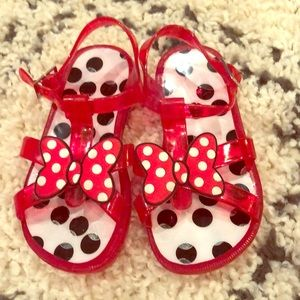 Minnie Mouse jelly sandals